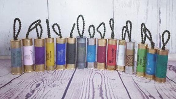 Shotgun Cartridge Keyring (Cord)