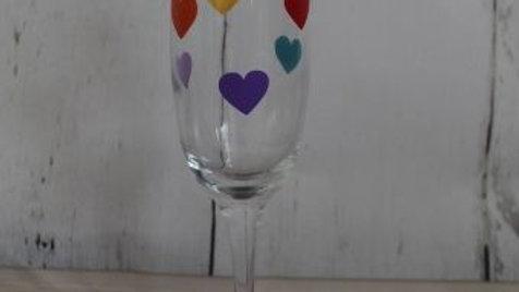 6 Heart Champagne Glass