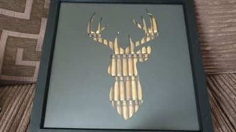Stag Head Rifle Silhouette