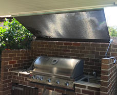 Gearbox Operated Straight Drop - Concord - Outlook Privacy Black 99% blockout - BBQ cover