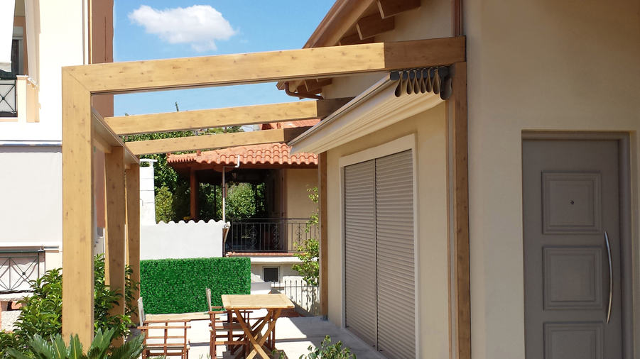 Alpha Retractable Roof with Timber Cladding
