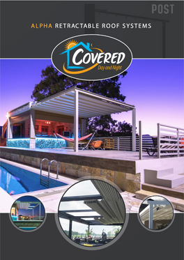 Alpha Retractable Roof system Brochurecover