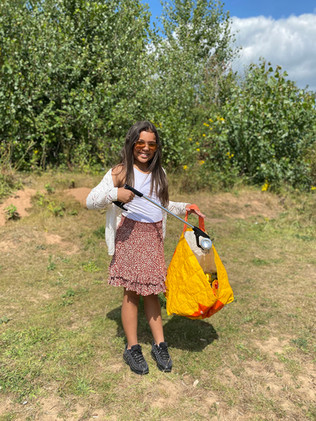 Some litter picking whilst chatting