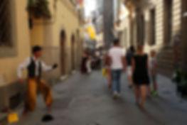 Street Entertainer, Cortona, Tuscany