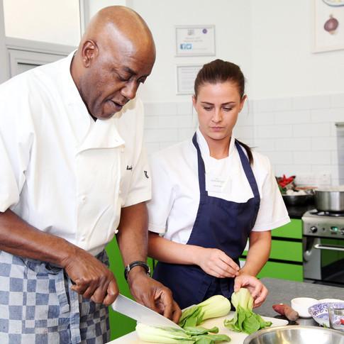Ainsley Harriott - Carebase Chef training