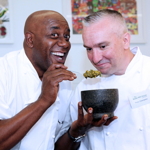 Ainsley Harriott - Carebase Chef training