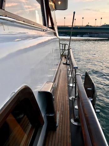 Vintage Italian Motor Yacht in Paris