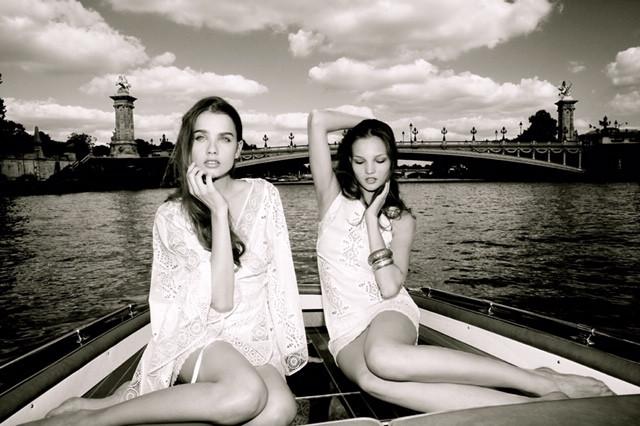 fashion photo shoot with Lolita Jaca St Barth