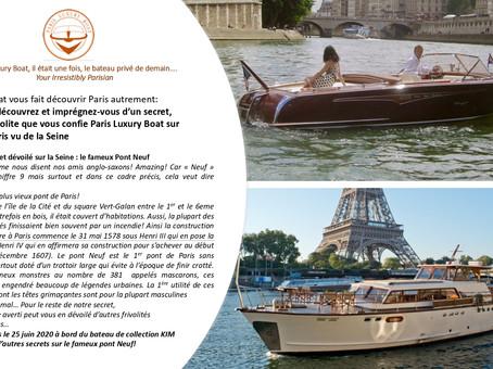 Nouveau : Soyez inspirés, entrez dans notre univers des légendes urbaines sur la Seine à Paris