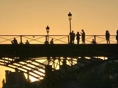 Golden hour in paris#pont des arts##love