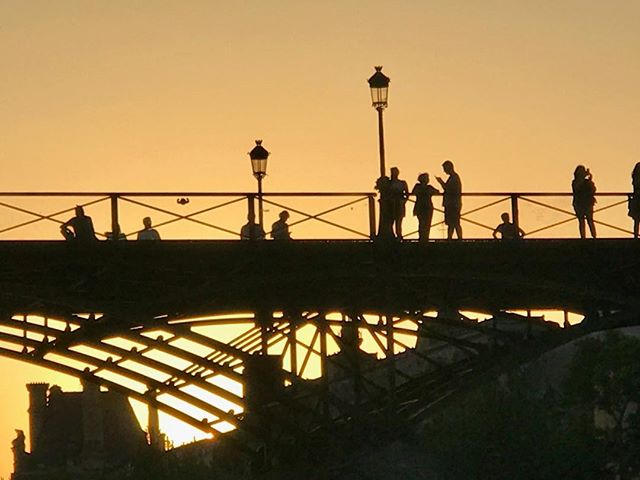 Golden hour in Paris pont des arts
