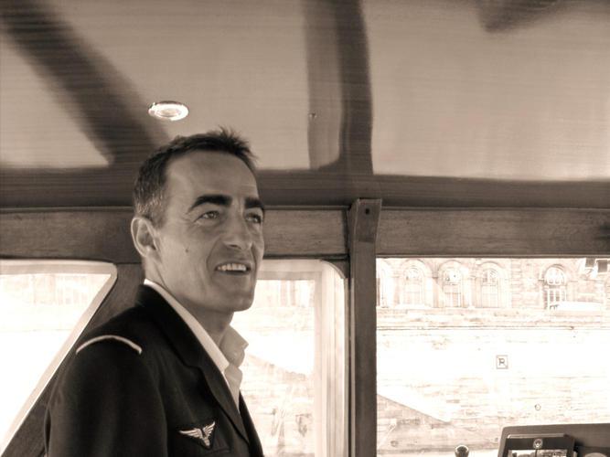 David Shivas captain luxury motor yacht on the Seine