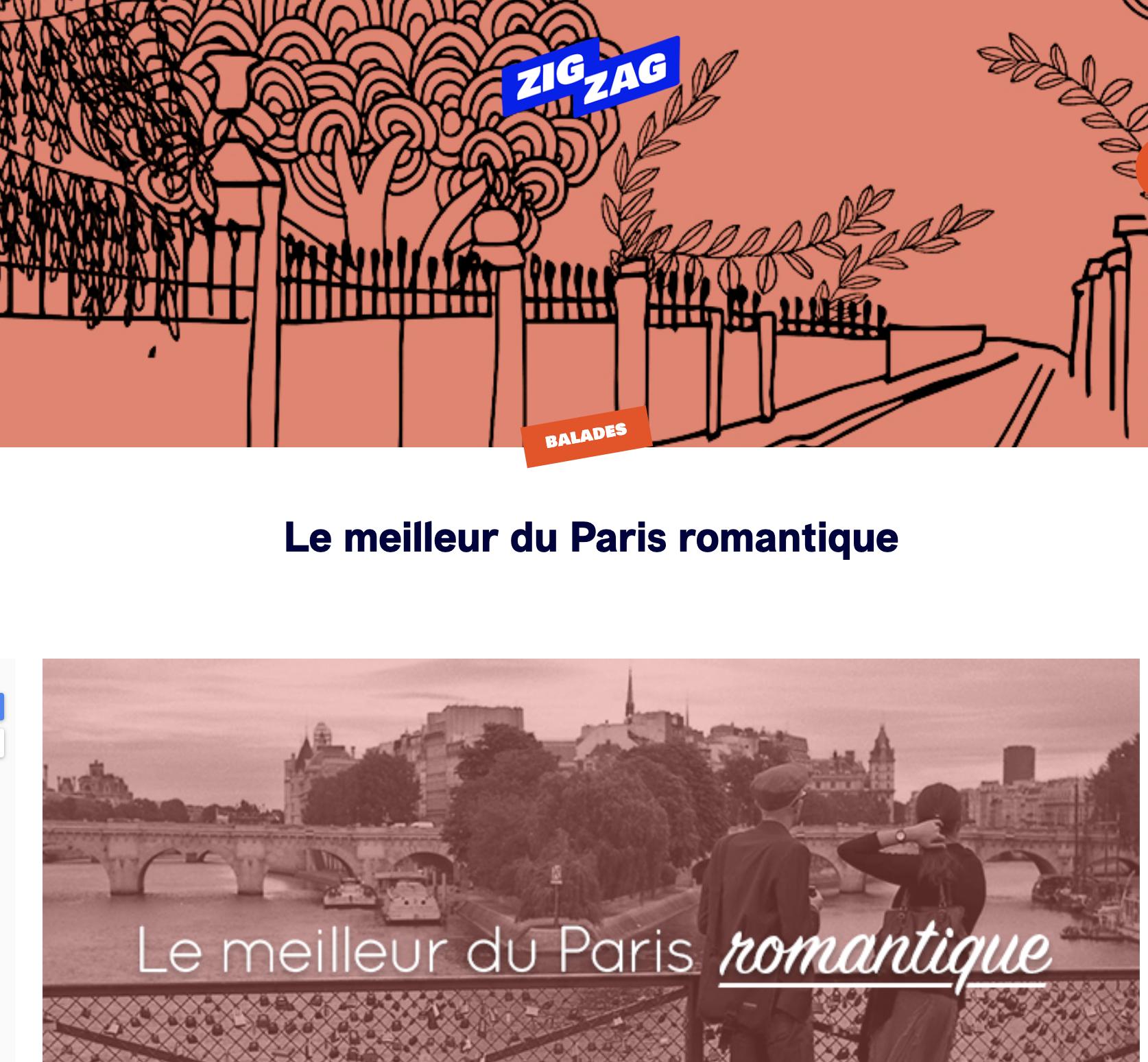balades excusions paris romantique Paris ZIg Zag