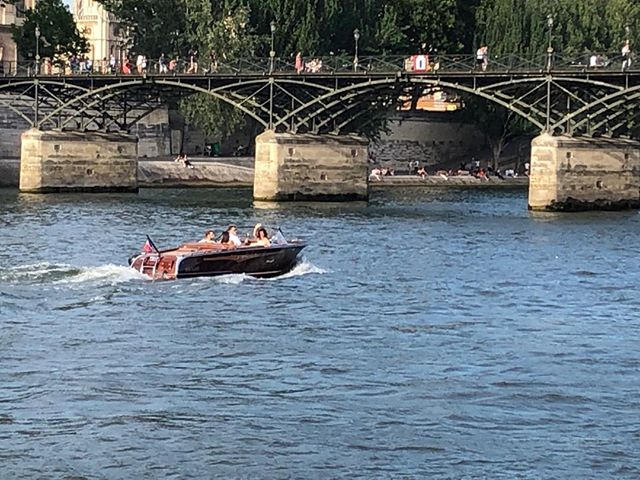 luxury escape at art bridge along the Seine
