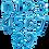 Thumbnail: Ballon chiffre Bleu 40 cm