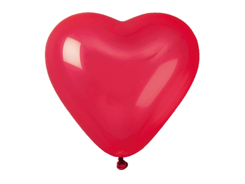 Ballons Coeur Rouge x 5