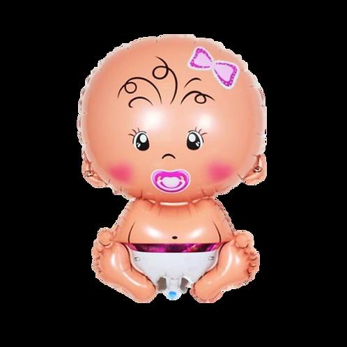 Ballon Bébé Fille Géant