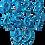 Thumbnail: Ballon chiffre Bleu Etoile 40 cm