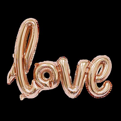 Ballon Love Rose Géant