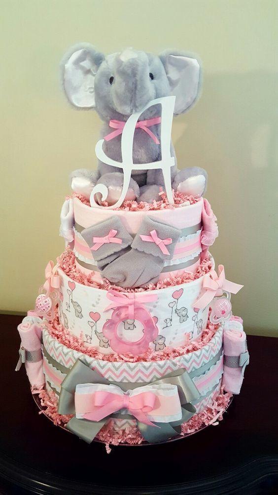 Gâteau de couches éléphant