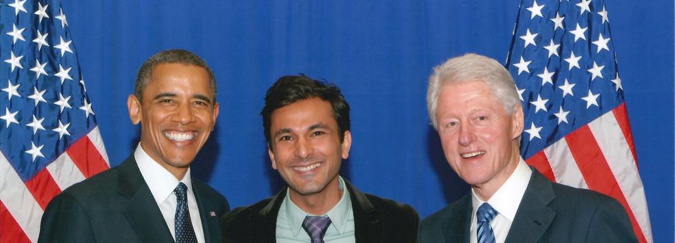 Vikas_President Obama_President Clinton.
