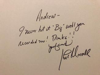 John's autograph