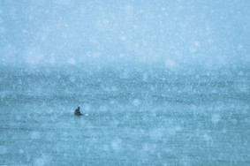 The lonesome surfer