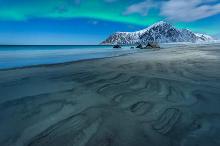 Aurore boréale lors du voyage photo Laponie aux Lofoten