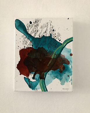 25.5cm x 20cm mixed media on 100% cotton stretched canvas