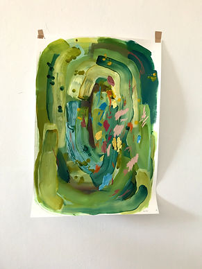 74.5cm x 52.5cm mixed media on fabriano paper