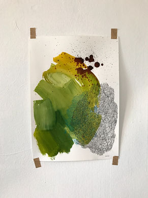 52.5cm x 37.5cm mixed media on fabriano paper