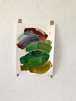 37.5cm x 26.5cm mixed media on fabriano paper