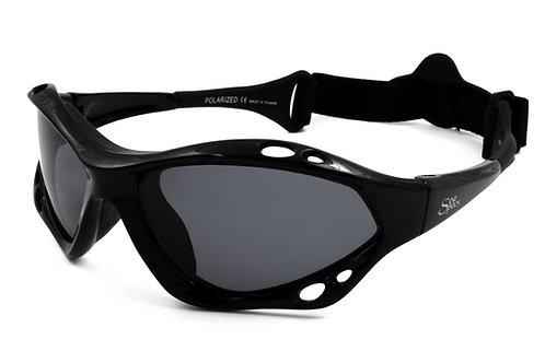 Kitesurfing Sunglasses Seaspeacs Classic Jet Specs BLACK