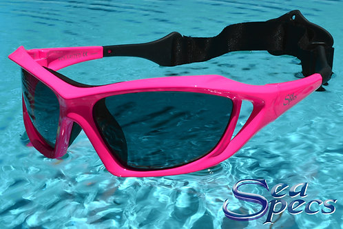 Surfing Sunglasses by Seaspecs Stealth Pink