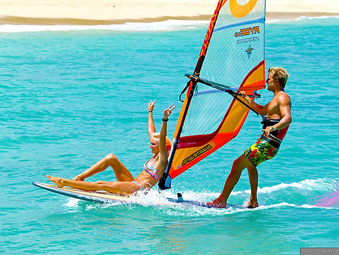 Enjoy the best windsurfing experience with Captain Kirk's in Southern California