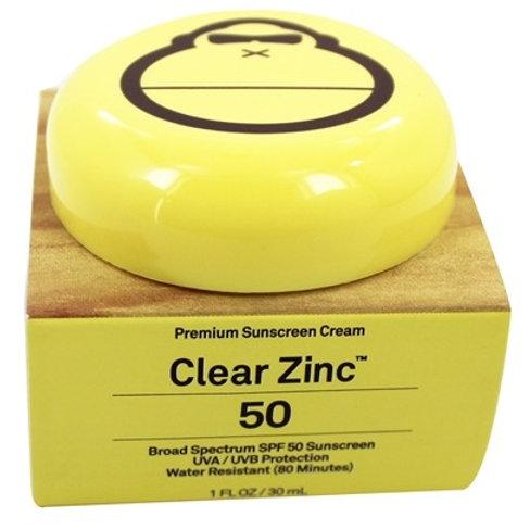 SUN BUM Clear Zinc Premium Sunscreen Cream 50 SPF - 1 fl. oz.