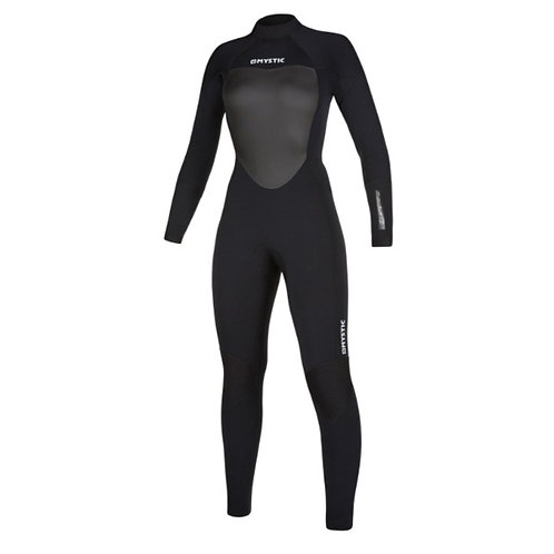 Women's Mystic Star 5/4 BZ Wetsuit - Black Size Large