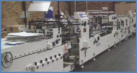 The Brausse TB1100 folder-gluer handles four and six corner gluing on a variety of carton sizes and thicknesses.