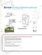 Victoria 2 Bedroom Data Sheet