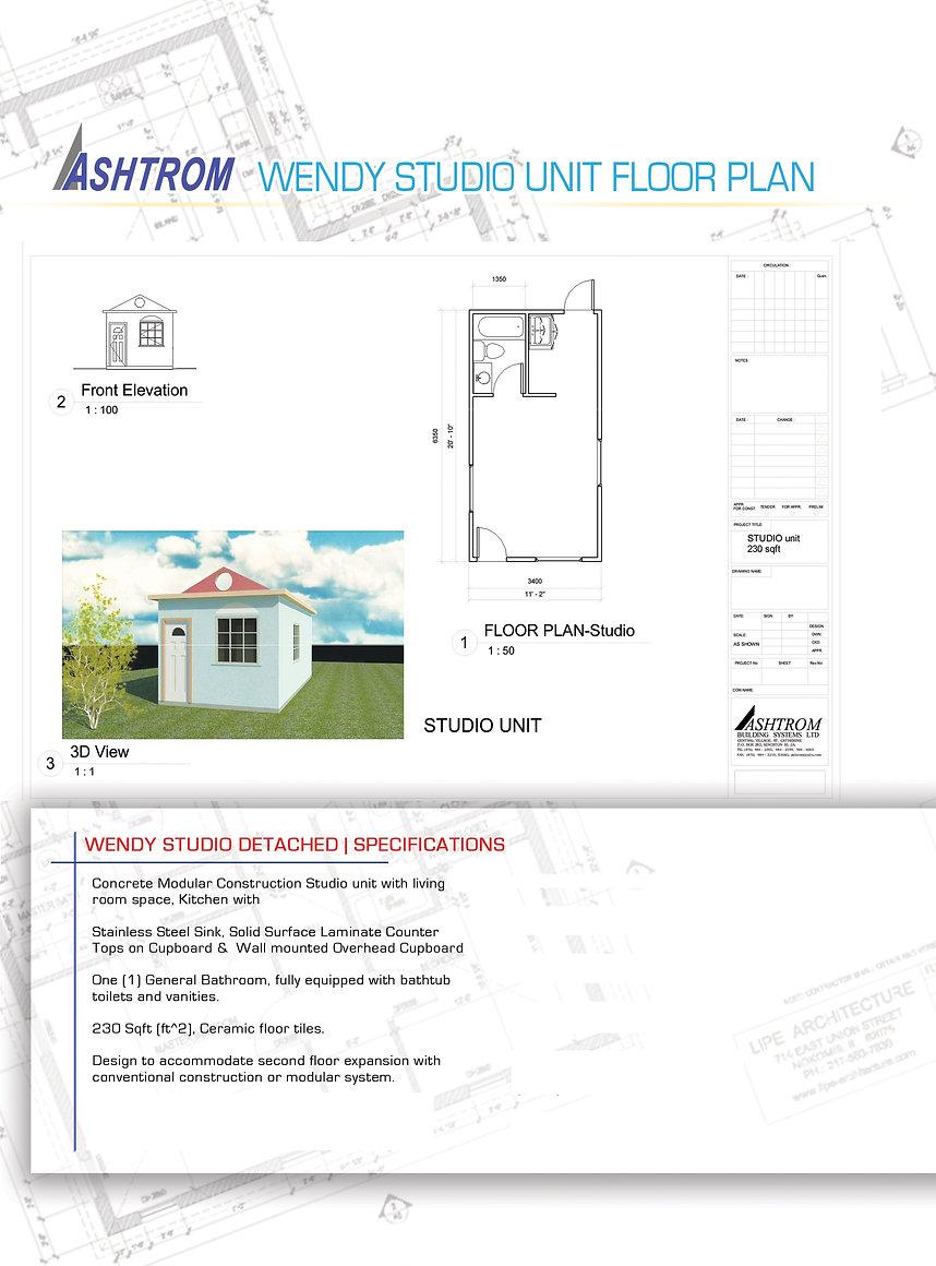 Wendy Studio Data Sheet