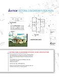 Victoria 3 Bedroom Data Sheet