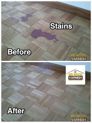 Parquet Flooring Stubborn Stains Marks