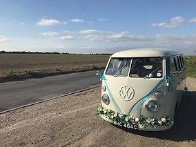 Stunningly renovated vw split screen camper van for wedding hire