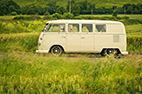 Retro wedding car hire, VW camper van.