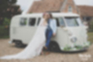VW campervan wedding hire Kent, vintage wedding cars kent