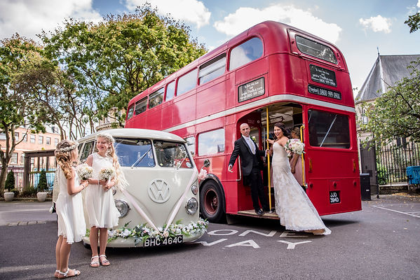 wedding car islington, wedding bus islington, wedding camper islington