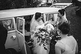 quirky transport wedding, unusual wedding car, boho wedding