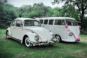 VW beetle wedding car, vw camper wedding car