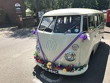 classic wedding car welling