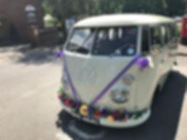 vintage vw wedding car hire Surrey